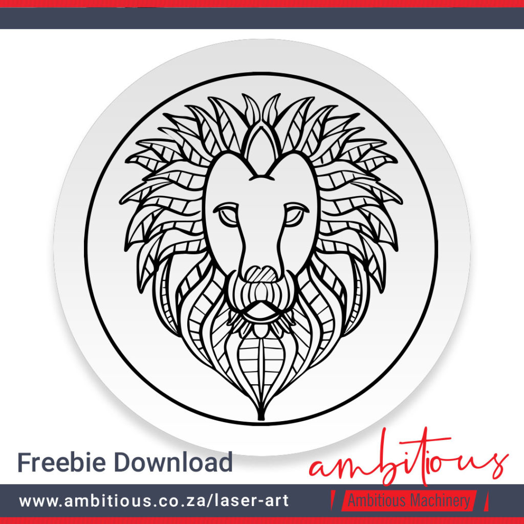 AM Laser-art: Lion