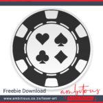 Ambitious.co.za Laser Art Poker Chips