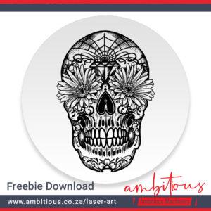 AM Laser-art: Skull